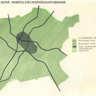 Ташкент. Схема микросейсморайонирования