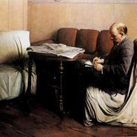 И.И. Бродский. В.И. Ленин в Смольном. 1930 г. Москва, Центральный музей В.И. Ленина