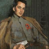 С.В. Малютин. Портрет Д.А. Фурманова. 1922 г. Москва, Третьяковская галерея
