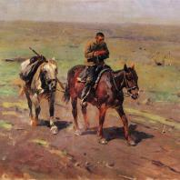 М.Б. Греков. В отряд к Буденному. 1923 г. Москва, Третьяковская галерея