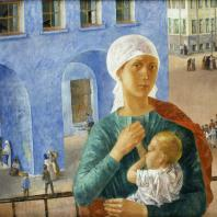 К.С. Петров-Водкин. 1918 год в Петрограде. 1920 г. Москва, Третьяковская галерея