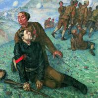К.С. Петров-Водкин. Смерть комиссара. 1928 г. Москва, Центральный музей Советской Армии