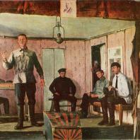 Е.М. Чепцов. Заседание сельской ячейки. 1924 г. Москва, Третьяковская галерея