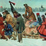 П.П. Соколов-Скаля. Путь из Горок. 1929 г. Москва, Центральный музей В.И. Ленина