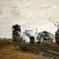 Б.Н. Яковлев. Транспорт налаживается. 1923 г. Москва, Третьяковская галерея
