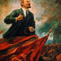 А.М. Герасимов. В.И. Ленин на трибуне. 1930 г. Москва, Центральный музей В.И. Ленина