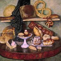 И.И. Машков. Снедь московская: хлебы. 1924 г. Москва, Третьяковская галерея