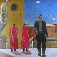 А.А. Дейнека. Улица в Риме. 1935 г. Москва, Третьяковская галерея