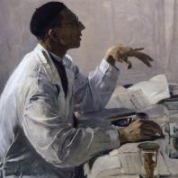 М.В. Нестеров. Портрет С. С. Юдина. 1935 г. Москва, Третьяковская галерея