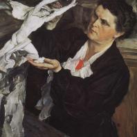 М.В. Нестеров. Портрет В.И. Мухиной. 1940 г. Москва, Третьяковская галерея