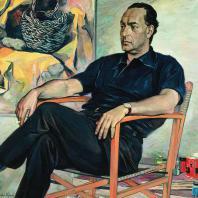 П.Д. Корин. Портрет Ренато Гуттузо. 1961 г. Ленинград, Русский музей