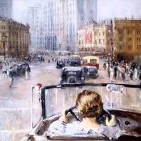 Ю.И. Пименов. Новая Москва. 1937 г. Москва, Третьяковская галерея