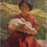В.П. Ефанов. Девочка-испанка. 1937 г. Москва, Третьяковская галерея