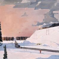 Г.Г. Нисский. Перед Москвой. Февраль. 1956 г.
