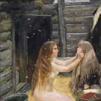 А.А. Пластов. Весна. 1954 г. Москва, Третьяковская галерея