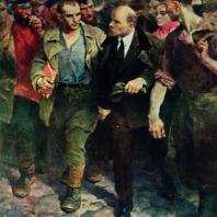 В.А. Серов. С Лениным. 1961 г. Москва, Третьяковская галерея