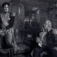 Н.П. Ульянов. Лористон в ставке у Кутузова. 1945 г. Москва, Третьяковская галерея