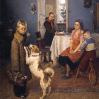 Ф.П. Решетников. Опять двойка! 1952 г. Москва, Третьяковская галерея