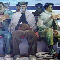 Т. Салахов. Ремонтники. 1960 г. Баку, Музей искусств им. Р. Мустафаева