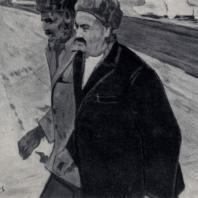 И.Н. Клычев. Портрет дважды Героя Социалистического Труда О. Эрсарыева. 1961 г. Ашхабад, Музей искусств Туркменской ССР