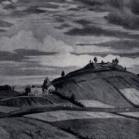 А.И. Жмуйдзинавичюс. Пилякальнис в Рудамине. 1956 г. Каунас, Художественный музей им. М.К. Чюрлёниса